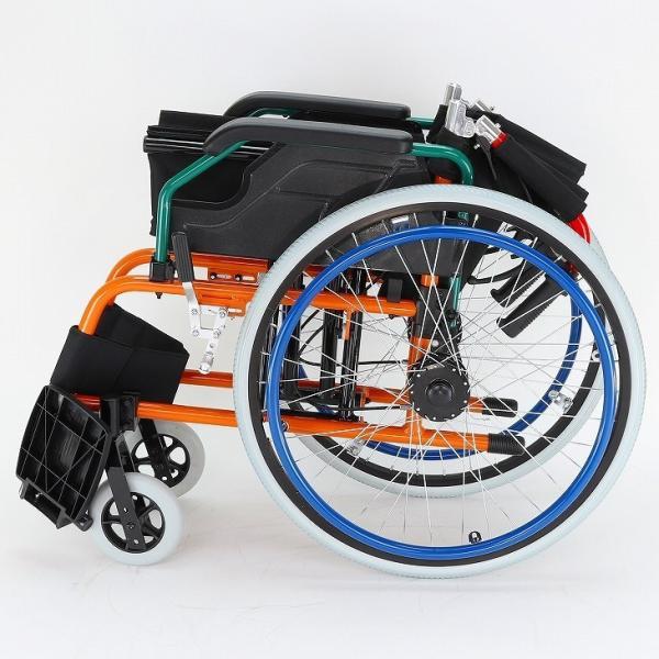 車椅子 自走用 自走式 車イス 軽量 折り畳み 多機能 送料無料 カドクラ KADOKURA スニーカー B104−AS カラフル|xenashopping|06