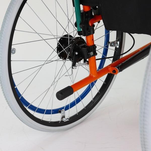 車椅子 自走用 自走式 車イス 軽量 折り畳み 多機能 送料無料 カドクラ KADOKURA スニーカー B104−AS カラフル|xenashopping|10