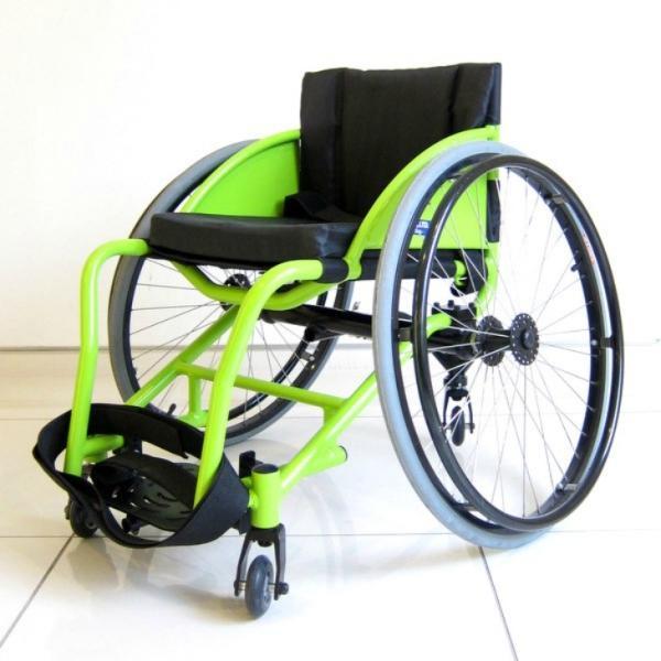 スポーツ車椅子 自走式 車イス カドクラ フロッガー B402-SPT エアータイヤ ライムグリーンフレーム xenashopping 03