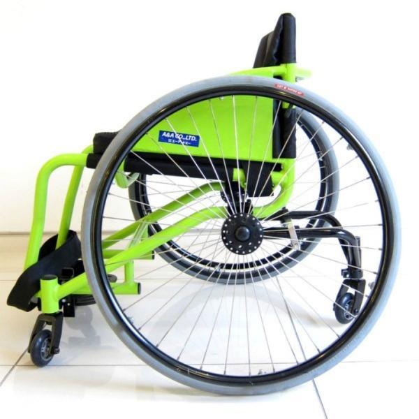 スポーツ車椅子 自走式 車イス カドクラ フロッガー B402-SPT エアータイヤ ライムグリーンフレーム xenashopping 04