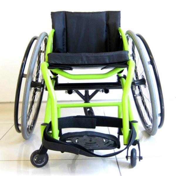 スポーツ車椅子 自走式 車イス カドクラ フロッガー B402-SPT エアータイヤ ライムグリーンフレーム xenashopping 05