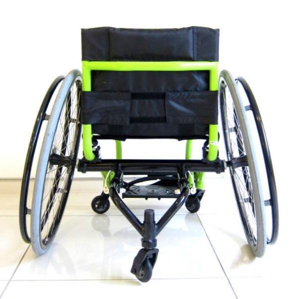 スポーツ車椅子 自走式 車イス カドクラ フロッガー B402-SPT エアータイヤ ライムグリーンフレーム xenashopping 06