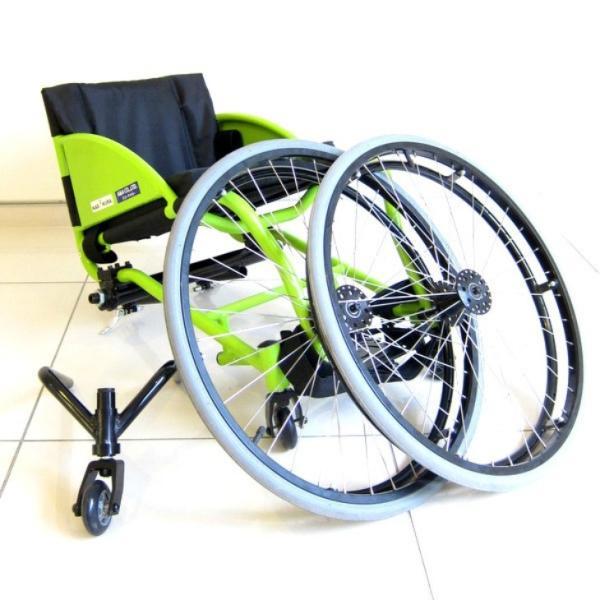 スポーツ車椅子 自走式 車イス カドクラ フロッガー B402-SPT エアータイヤ ライムグリーンフレーム xenashopping 08