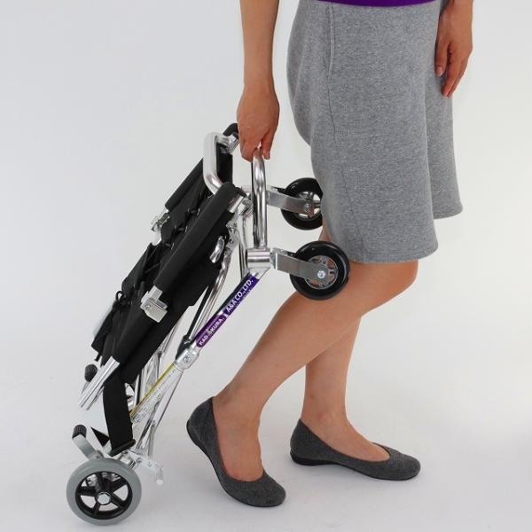 車椅子 簡易 旅行用 介助式 介助用 子供用 車イス 超軽量 送料無料 カドクラ KADOKURA ポケッタ B503-AP xenashopping 12