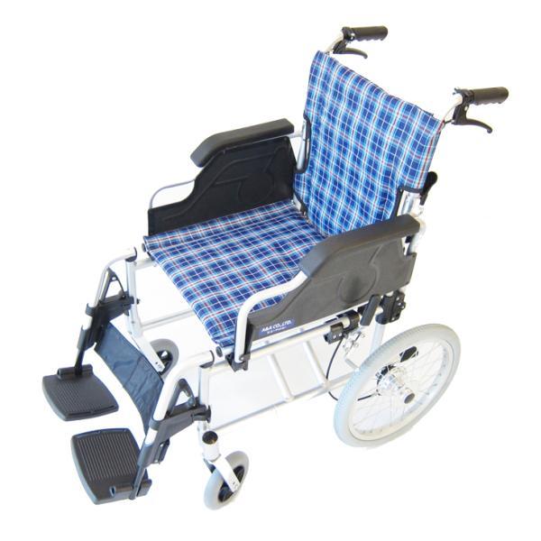 車椅子 介護用 介助式 軽量 折り畳み 車イス 送料無料 カドクラ KADOKURA ビスケット ブルー B602-AKB 多機能|xenashopping|03