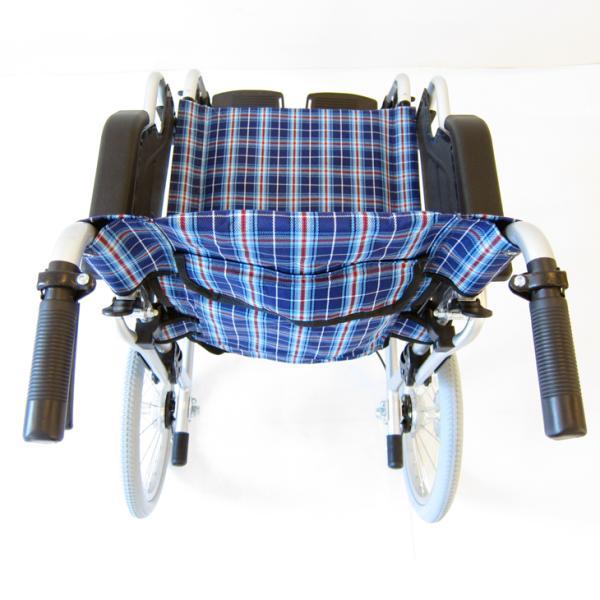 車椅子 介護用 介助式 軽量 折り畳み 車イス 送料無料 カドクラ KADOKURA ビスケット ブルー B602-AKB 多機能|xenashopping|06