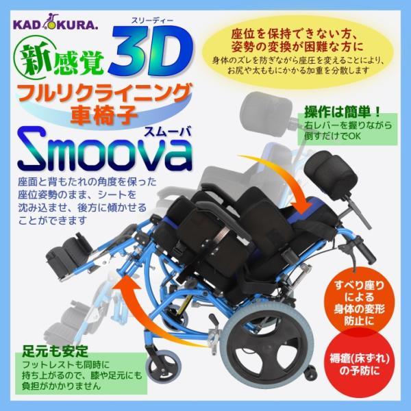車椅子 リクライニング 車イス 送料無料 カドクラ KADOKURA スムーバ C701-A |xenashopping|02