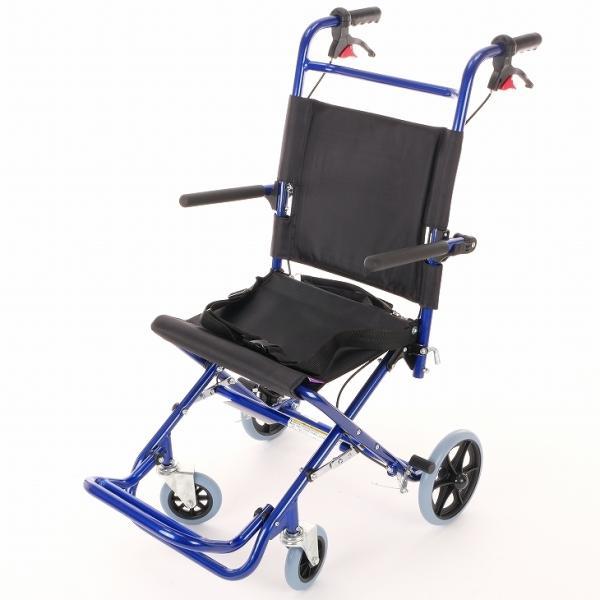 車椅子 全2色 簡易 車イス 送料無料 カドクラ KADOKURA カットビー ネイビーブルー E101-AB|xenashopping|03