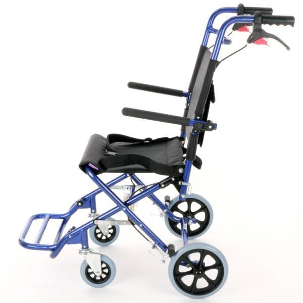 車椅子 全2色 簡易 車イス 送料無料 カドクラ KADOKURA カットビー ネイビーブルー E101-AB|xenashopping|04