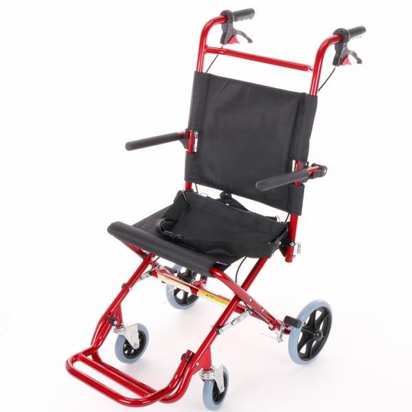 車椅子 全4色 簡易 車イス 介助用 介助式 送料無料 カドクラ KADOKURA カットビー レッド E101-AR|xenashopping|03