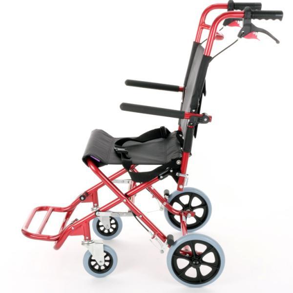 車椅子 全4色 簡易 車イス 介助用 介助式 送料無料 カドクラ KADOKURA カットビー レッド E101-AR|xenashopping|04