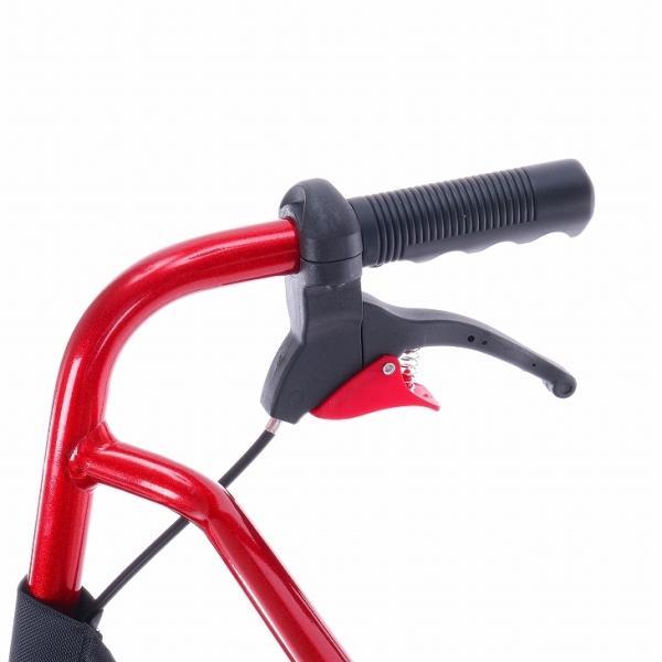 車椅子 全4色 簡易 車イス 介助用 介助式 送料無料 カドクラ KADOKURA カットビー レッド E101-AR|xenashopping|05