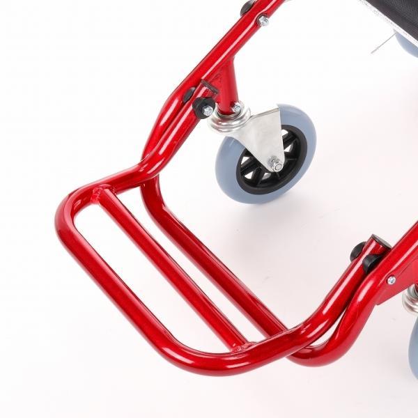 車椅子 全4色 簡易 車イス 介助用 介助式 送料無料 カドクラ KADOKURA カットビー レッド E101-AR|xenashopping|06