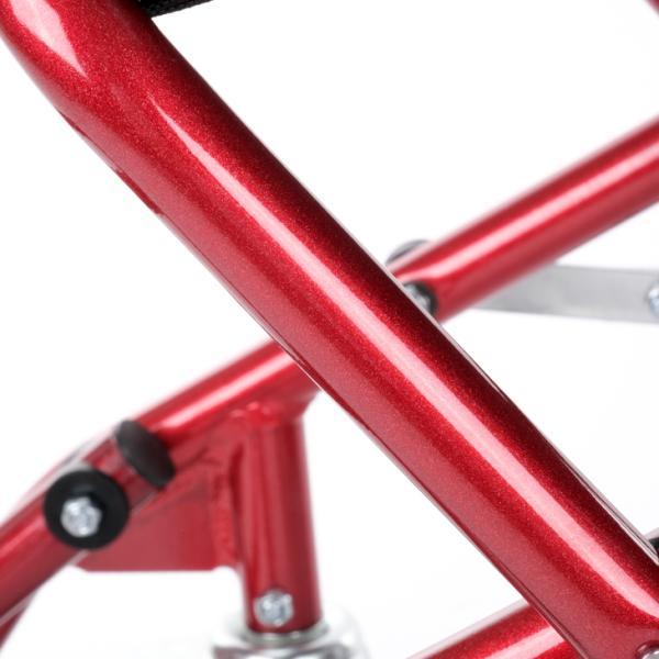 車椅子 全4色 簡易 車イス 介助用 介助式 送料無料 カドクラ KADOKURA カットビー レッド E101-AR|xenashopping|07