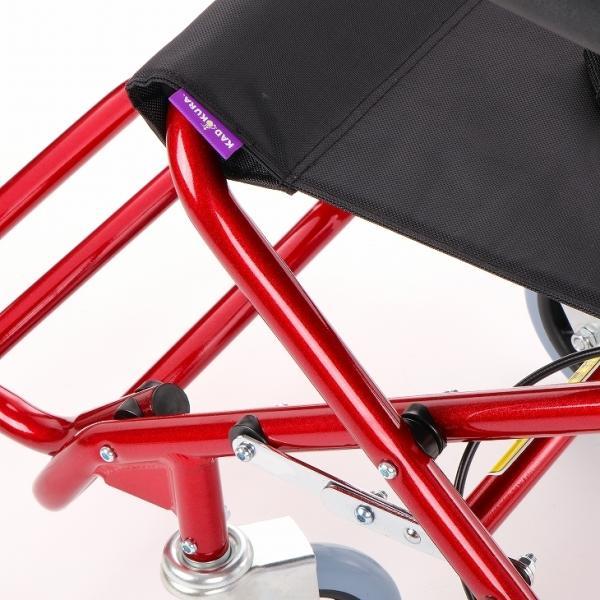 車椅子 全4色 簡易 車イス 介助用 介助式 送料無料 カドクラ KADOKURA カットビー レッド E101-AR|xenashopping|08