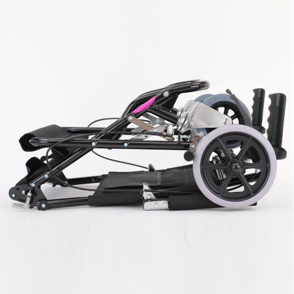 車椅子 全4色 簡易 車イス 介助用 介助式 送料無料 カドクラ KADOKURA カットビー レッド E101-AR|xenashopping|10