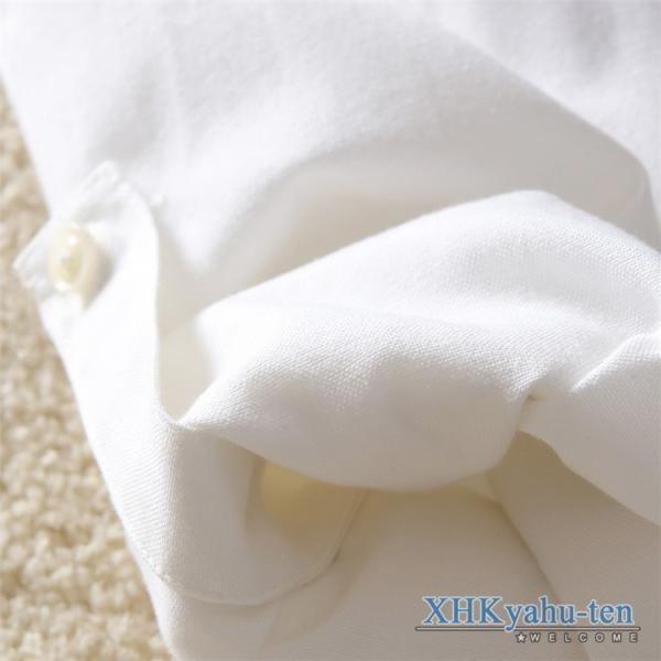 カジュアルシャツ メンズ 白シャツ 50代 長袖シャツ 秋物 開襟シャツ おしゃれ トップス スリム ビジネス 通学 セール|xhkyafu-ten|09