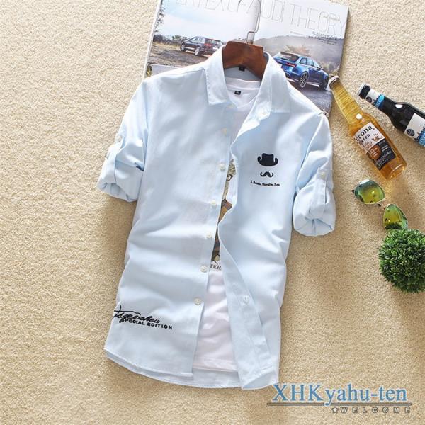 カジュアルシャツ メンズ 白シャツ 50代 長袖シャツ 秋物 開襟シャツ おしゃれ トップス スリム ビジネス 通学 セール|xhkyafu-ten|19