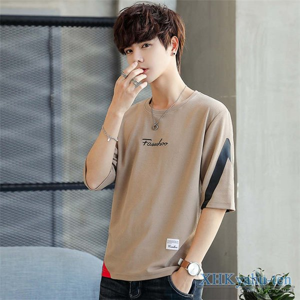 Tシャツ カジュアルTシャツ メンズ 5分袖 トップス クルーネック 五分袖Tシャツ 細身 メンズファッション|xhkyafu-ten|14
