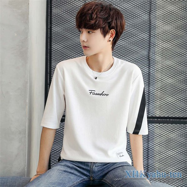 Tシャツ カジュアルTシャツ メンズ 5分袖 トップス クルーネック 五分袖Tシャツ 細身 メンズファッション|xhkyafu-ten|17