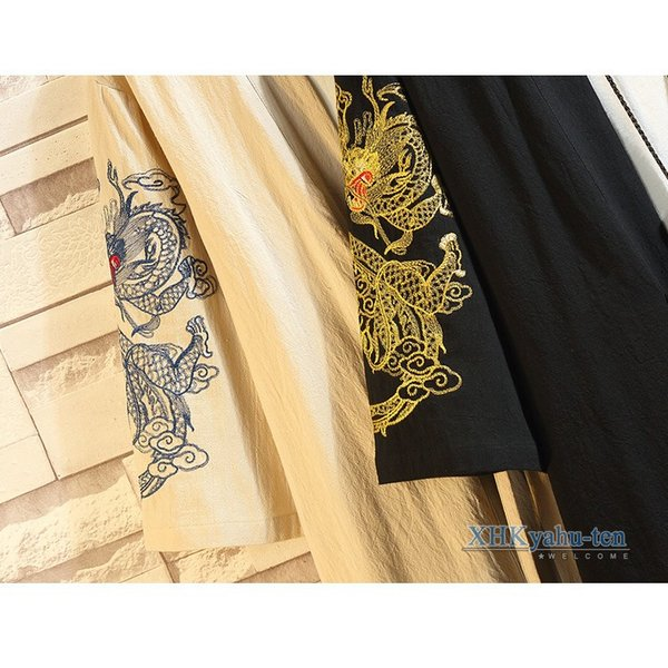 羽織 メンズ チャイナ服 カーディガン 浴衣風 甚平風 龍柄 おしゃれ 着物 ジャケット はおり 男性用 中華風|xhkyafu-ten|08