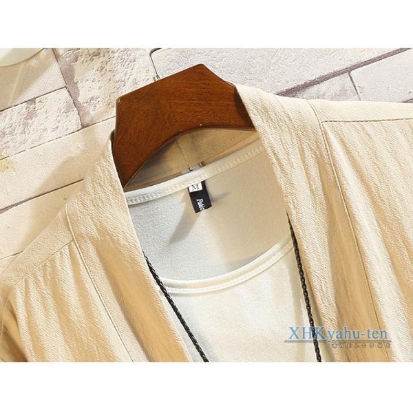 羽織 メンズ チャイナ服 カーディガン 浴衣風 甚平風 龍柄 おしゃれ 着物 ジャケット はおり 男性用 中華風|xhkyafu-ten|09