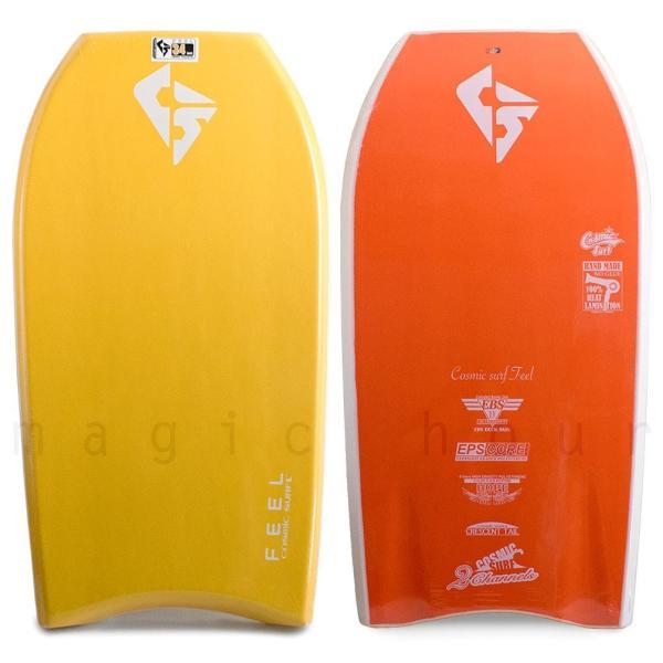 子供用 ボディボード 3点 セット キッズ ジュニア ボディーボード 34インチ ニットケース リーシュコード COSMIC SURF コスミックサーフ FEEL-JRSET3-YEL|xover-int|02