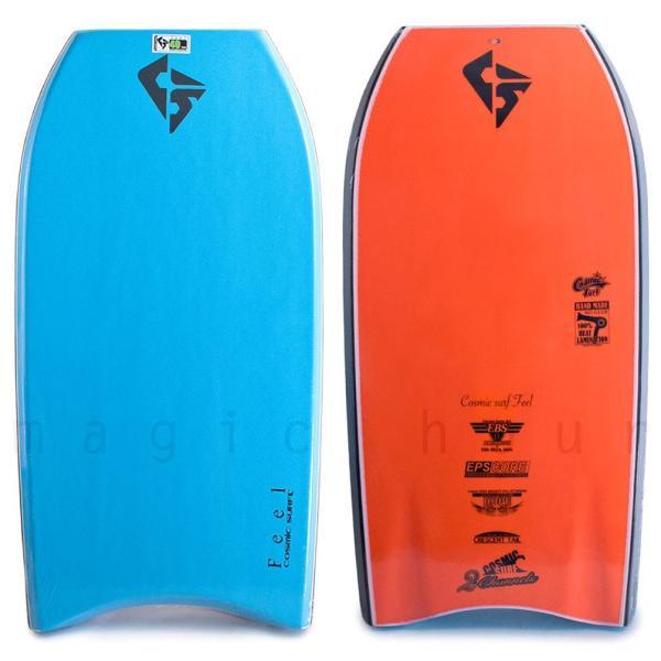 メンズ ボディボード 5点 セット 40インチ 42インチ COSMIC SURF コスミックサーフ ボディーボード ニットケース リーシュ フィン ソックス FEEL-MSET5-BLU xover-int 03
