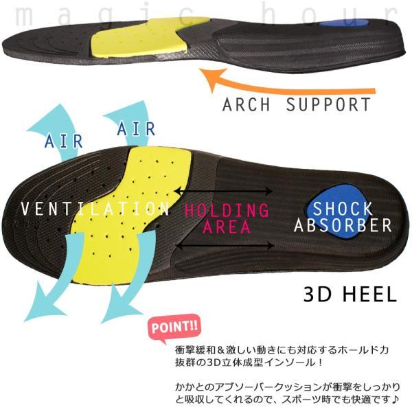 スポーツ 3D インソール 衝撃吸収 通気性抜群 アーチサポート かかと クッション 軽量 中敷き ランニング スキー スノーボード 23cm〜30cm 男性用 女性用 大きい xover-int 02
