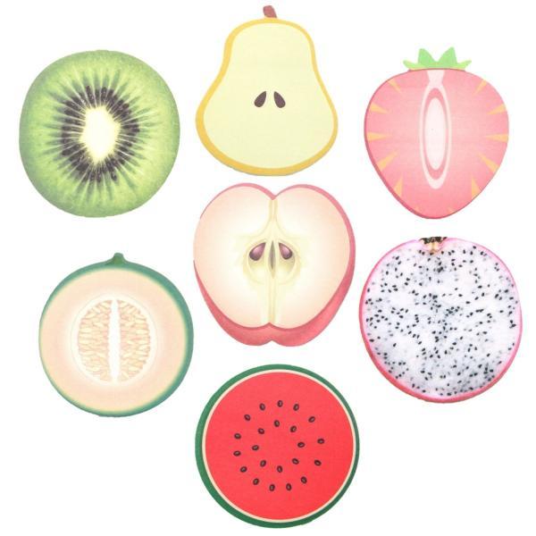 フルーツ 果肉 付箋紙 ふせん しおり メモ ステッカー メモ帳 手帳 ブックマーク フルーツ 7種 14個セット|xpdesign|05