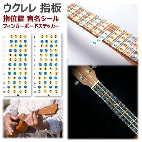 ウクレレ 指板 楽譜 初心者 指 練習 フレット シール ステッカー スケール ウクレレコード 指板シール