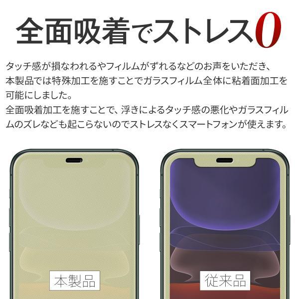 iPhone11 Pro iPhone11 ProMax 全面吸着カラー強化ガラス保護フィルム 9H