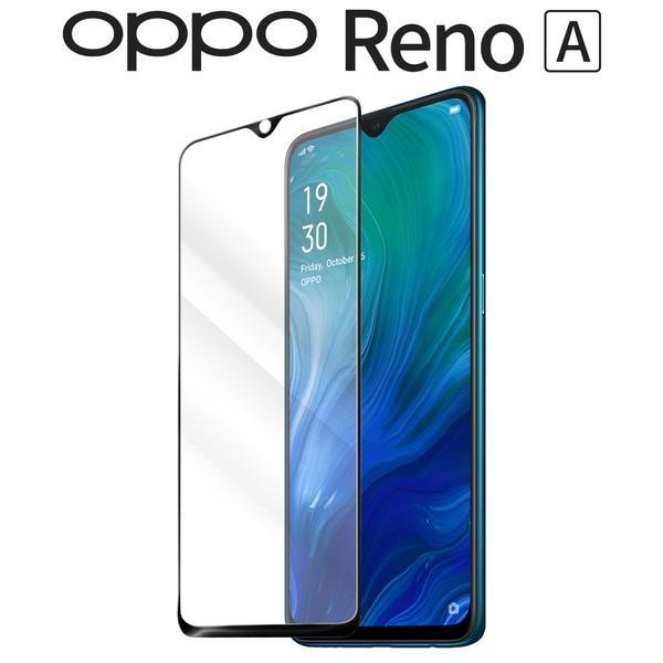 OPPO Reno A カラー強化ガラス保護フィルム 9H