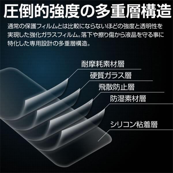 Xperia 5 SO-01M SOV41 カラー強化ガラス保護フィルム 9H