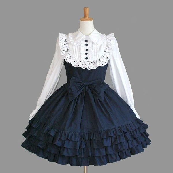 ゴスロリ ロリータ クラシカル 優雅 ワンピースドレス クラシカル パンク ゴシック|y-andromeo