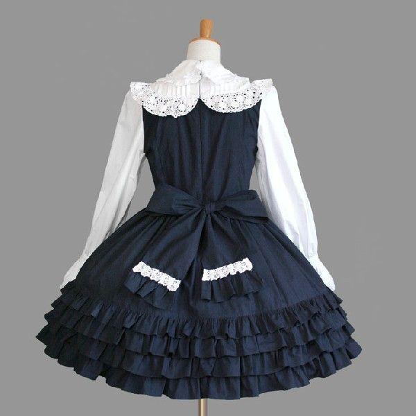 ゴスロリ ロリータ クラシカル 優雅 ワンピースドレス クラシカル パンク ゴシック|y-andromeo|04