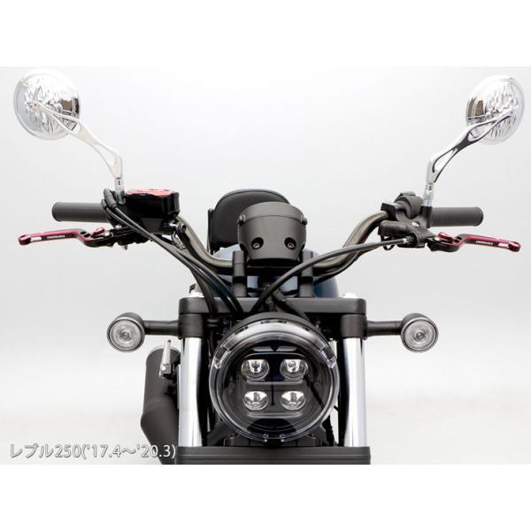 レブル250/500 REBEL250/500 MC49 PC60  ハンドルパイプ (ブラック)|y-endurance|04