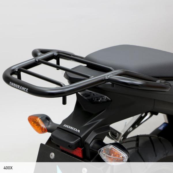 【返品交換不可】【ENDURANCE】CBR400R(〜'16.2月) 400X CB400F タンデムグリップ付きリアキャリア   CAR_ 040CRB_|y-endurance|08