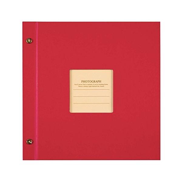 SEKISEI アルバム ポケット ハーパーハウス ましかくアルバム フレーム 80枚収容 51~100枚 レッド XP-8910|y-evolution