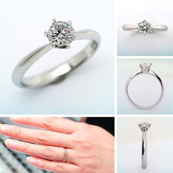 婚約指輪 プラチナ ダイヤモンドエンゲージリング 0.80ct Dカラー SI1 トリプルエクセレントカット GIA鑑定