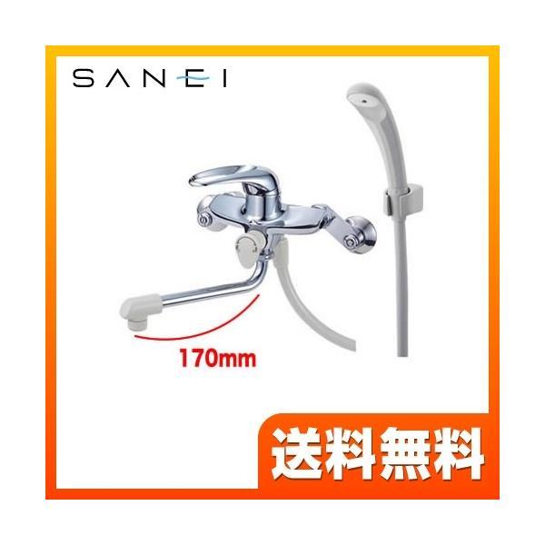浴室水栓浴室用三栄CSK1710D-13壁付シングルシャワー混合栓