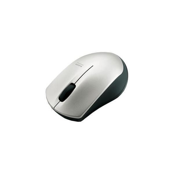 エレコム IRマウス Bluetooth/3ボタン M-BT12BRSV シルバーIR LEDセンサー搭載マウスの画像