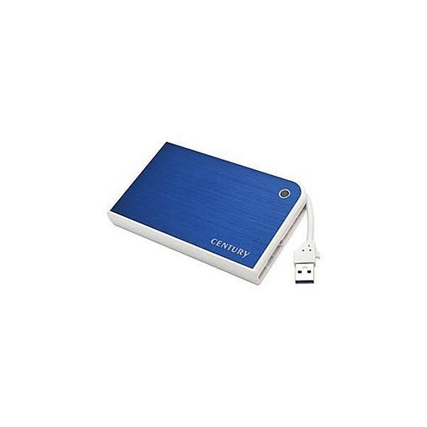 センチュリー USB3.0対応 SATA2.5HDD/SSD用HDDケース MOBILE BOX CMB25U3BL6G (ブルー&ホワイト)