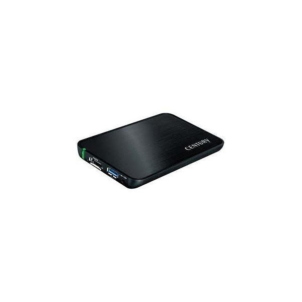 センチュリー USB3.0&eSATA対応 SATA2.5HDD/SSDケース CSS25EU3BK6G