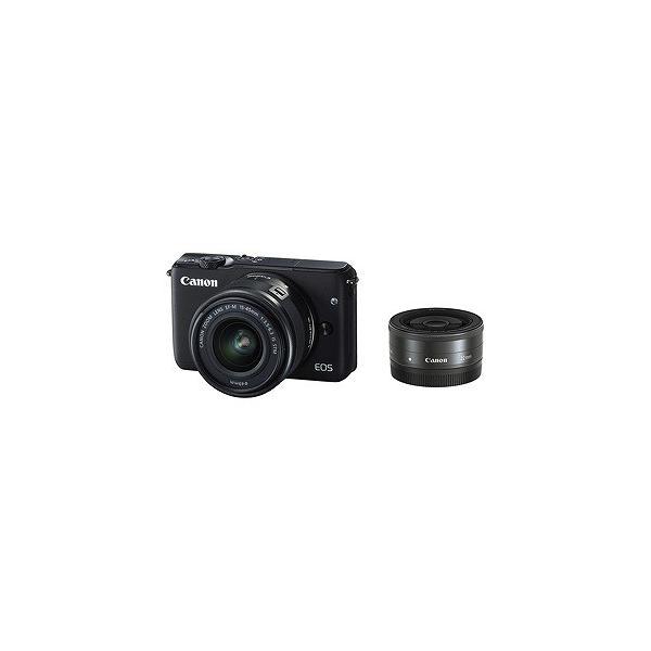 Canon EOS M10「ダブルレンズキット」(ブラック/ミラーレス一眼) EOSM10BKWLK