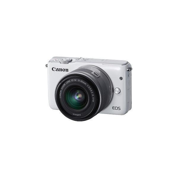 Canon EOS M10「EF−M15−45 IS STM レンズキット」(ホワイト/ミラーレス一眼) EOSM10WH1545ISSTMLK