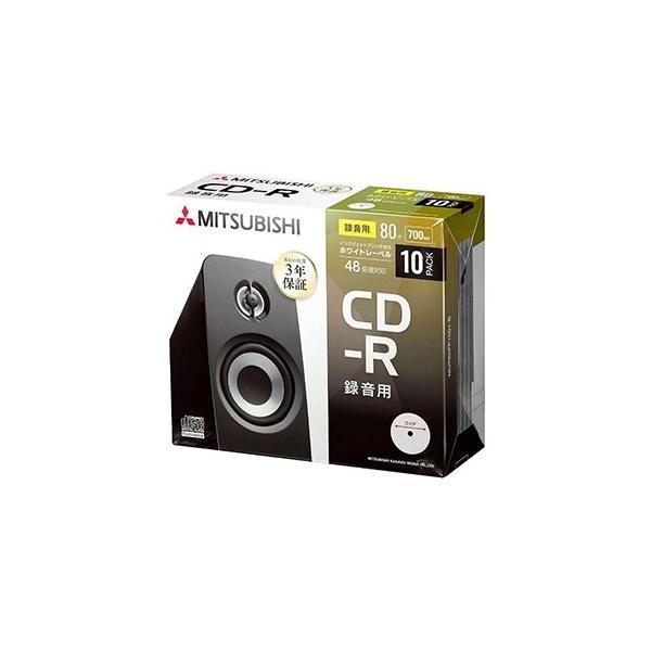 三菱ケミカルメディア 音楽用 CD−R(1−48倍速/700MB)10枚パック MUR80FP10D1‐B