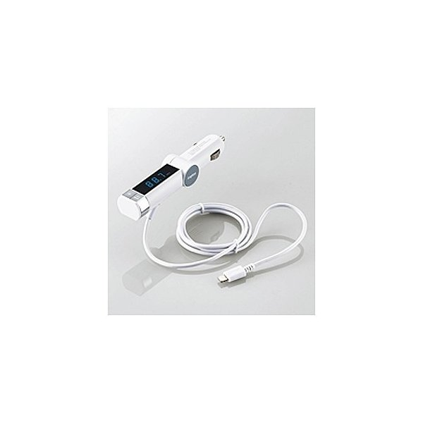 ロジテック FMトランスミッター/Lightning LAT-FMLTB01WH ホワイトの画像