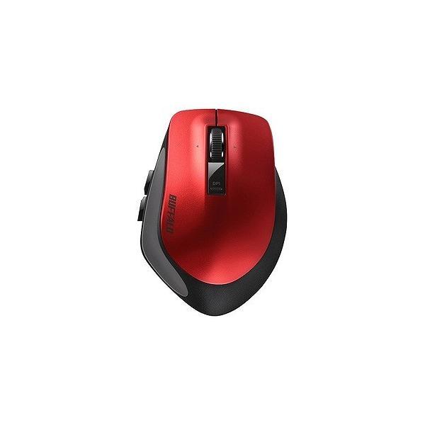 バッファロー Bluetoothマウス BSMBB500MRD レッドの画像