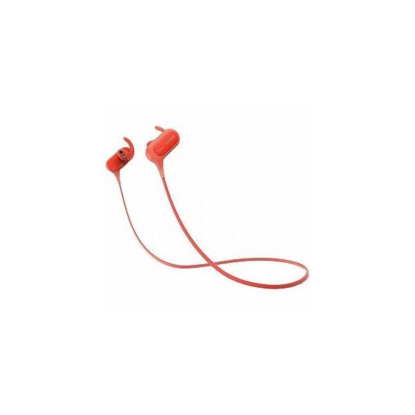 ソニー Bluetoothヘッドホン MDR-XB50BS R レッドの画像